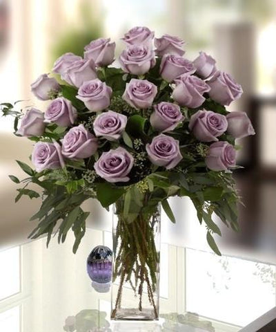 TWO DOZEN PURPLE ROSE BOUQUET