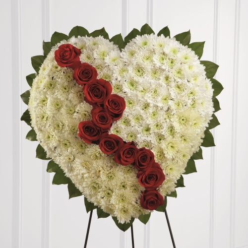 Broken Heart Funeral Wreath