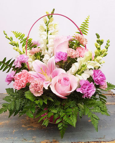 Pink Delights Basket