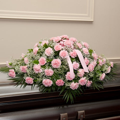 Pink Carnations™ Casket Spray