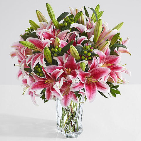 Sorbonne (Pink) Lilly Arrangement (24 blooms)