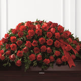 The Dearly Departed™ Casket Spray - Carnations & Roses