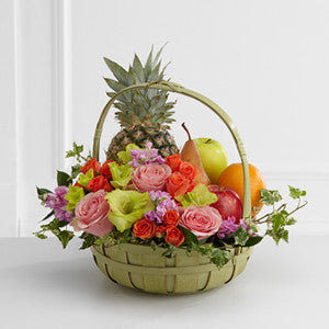 Basket - The Rest In Peace™ Fruit & Flowers Basket J-S56-4572