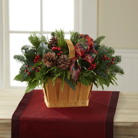 Bouquet - Christmas Coziness™ Basket  J-B10-5139