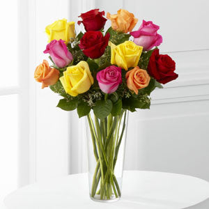 Valentine Bright Spark Rose Bouquet