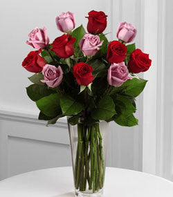 Bouquet - The Red And Lavender Rose Bouquet J-B23-4386
