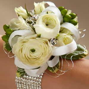 Corsage - The White Wedding Corsage J-W8-4639