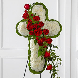 Easel - The Floral Cross Easel J-S12-4464
