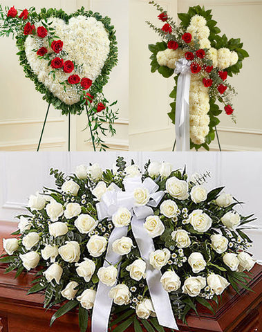 Red & White Funeral Package