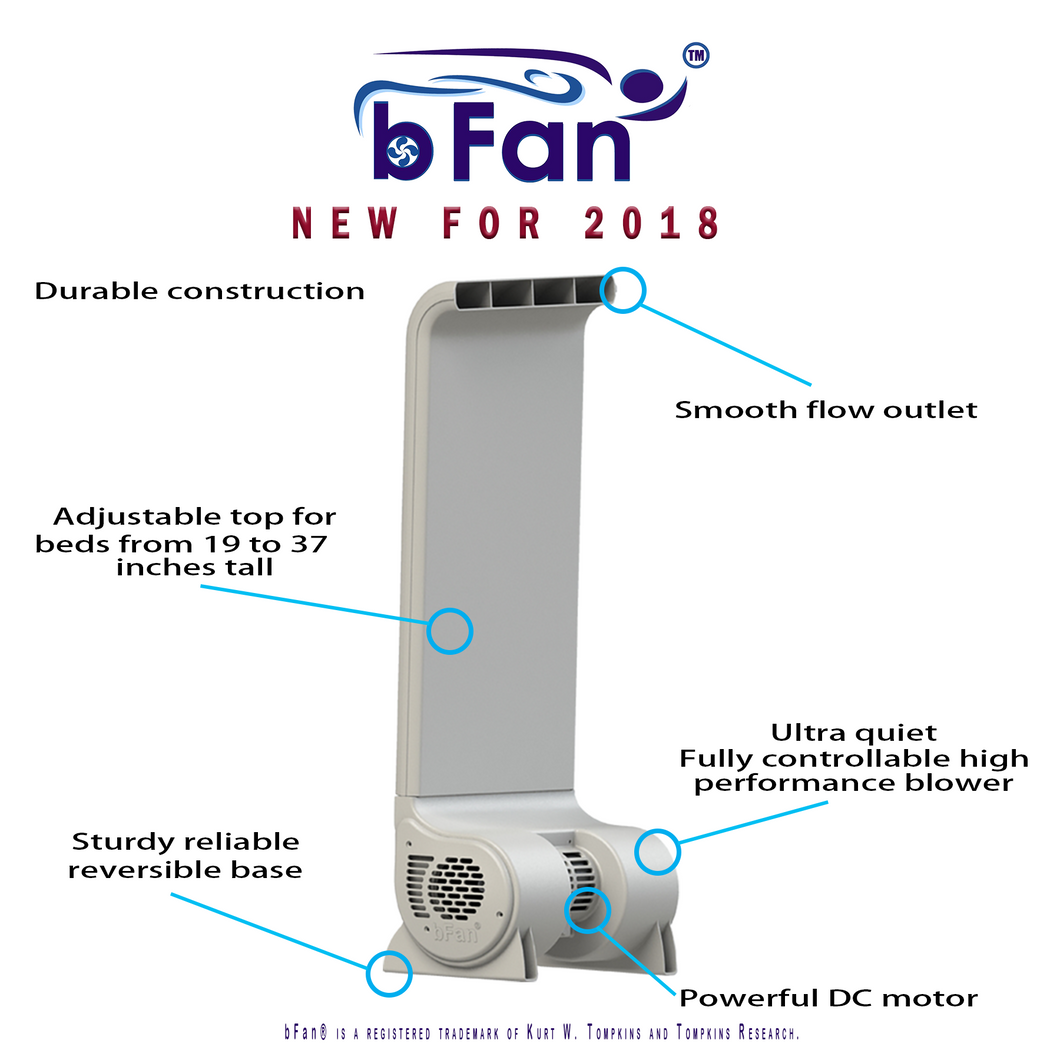 The New bFan® built in Texas NOT the brookstone knockoff bed fan