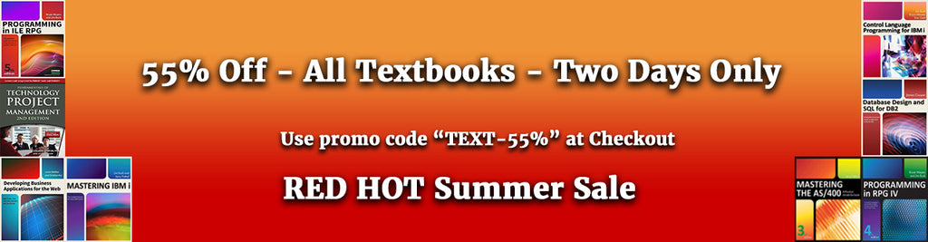 Red Hot Summer Sale – 55% Off All Textbooks