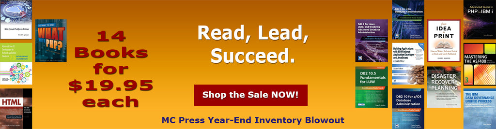 MC Press Year End Inventory Blowout Sale - $99.95 Books