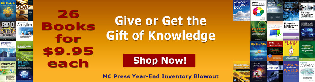 MC Press Year End Inventory Blowout Sale - $9.95 Books