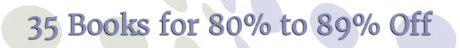 New Year's Sale - 80% to 89% Off Books