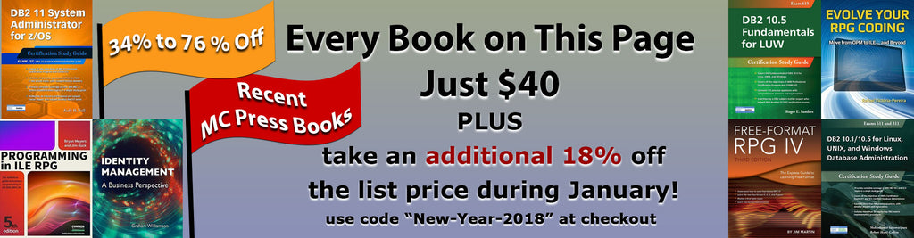 "$40 ""18% Off for 2018"" Sale Books"