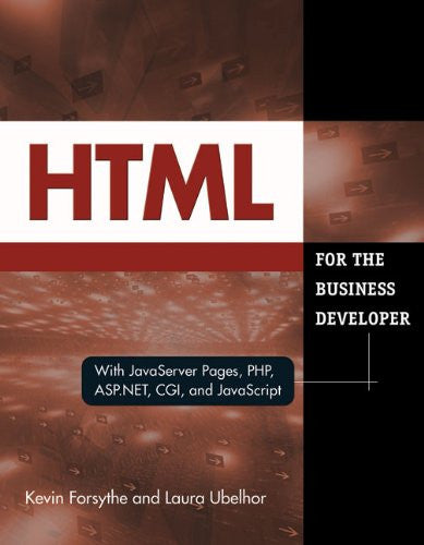 HTML for the Business Developer Front Cover