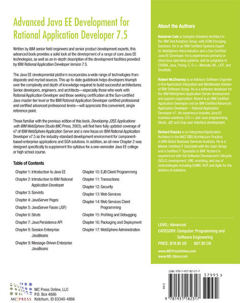 Advanced Java EE Development for Rational Application Developer 7.5