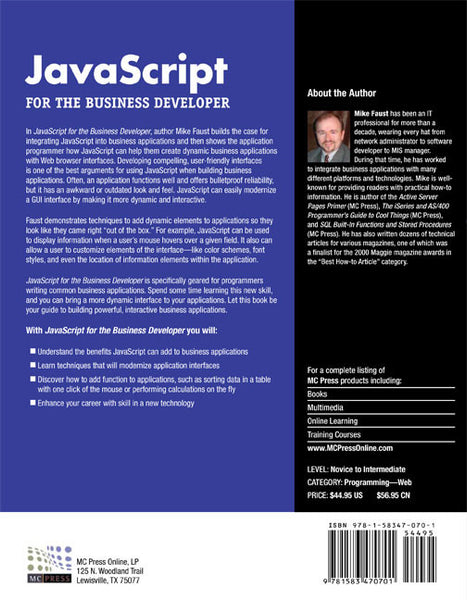 JavaScript for the Business Developer