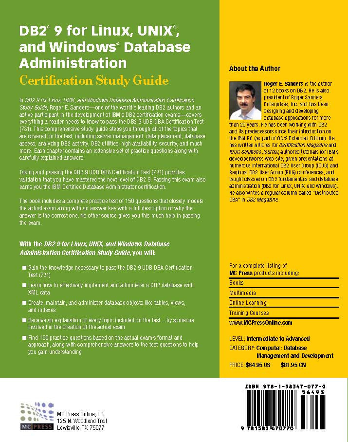 DB2 9 for Linux, UNIX, and Windows Database Administration (Exam 731 ...