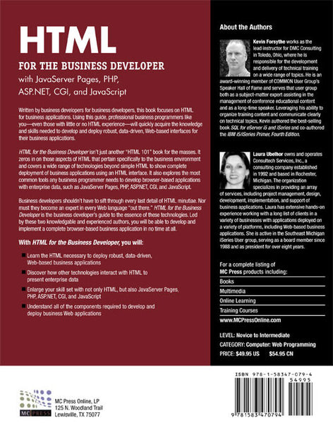HTML for the Business Developer