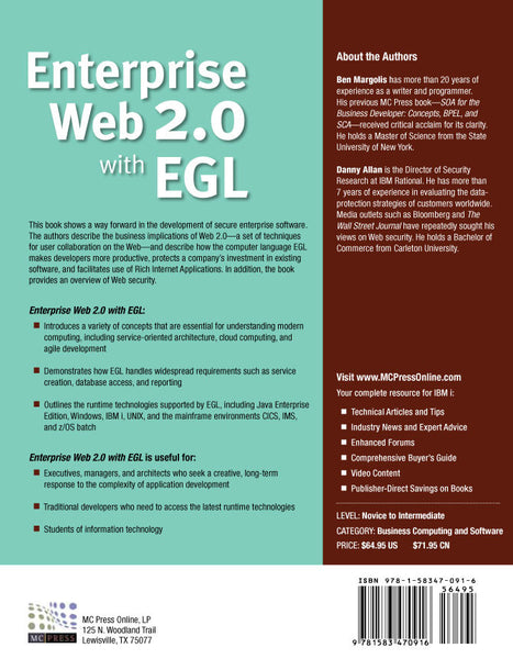 Enterprise Web 2.0 with EGL