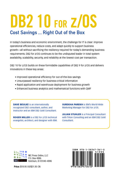 DB2 10 for z/OS: Cost Savings...Right Out of the Box