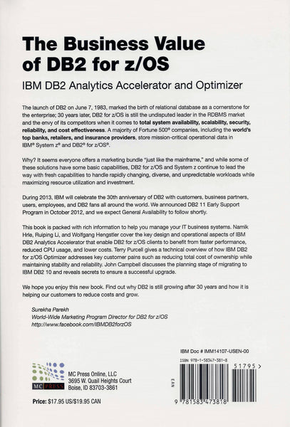 The Business Value of DB2 for z/OS