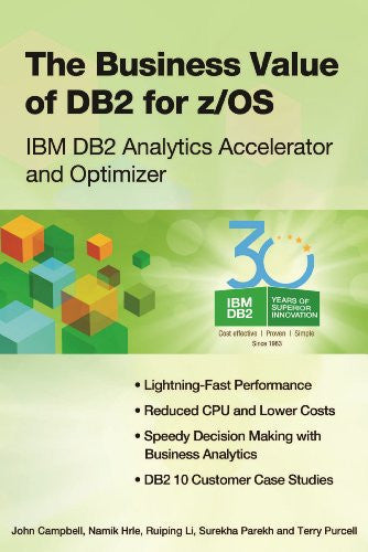 The Business Value of DB2 for z/OS Front Cover