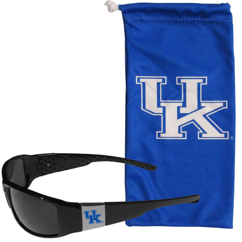 Kentucky Wildcats Chrome Wrap Sunglasses and Bag