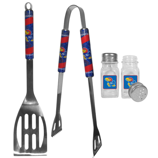 Kansas Jayhawks 2pc BBQ Set with Salt & Pepper Shakers