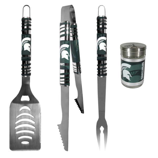 Michigan St. Spartans 3 pc Tailgater BBQ Set and Season Shaker