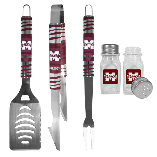 Mississippi St. Bulldogs 3 pc Tailgater BBQ Set and Salt and Pepper Shakers