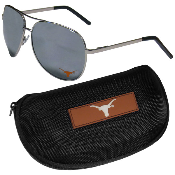 Texas Longhorns Aviator Sunglasses and Zippered Carrying Case
