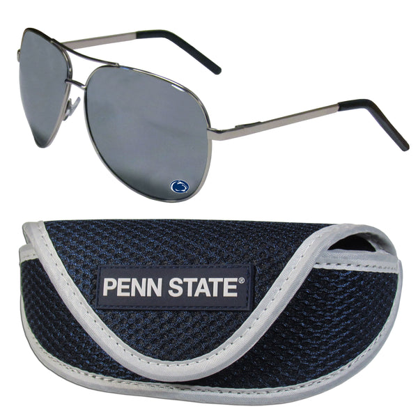 Penn St. Nittany Lions Aviator Sunglasses and Sports Case