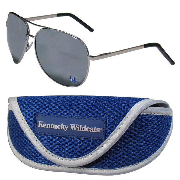 Kentucky Wildcats Aviator Sunglasses and Sports Case