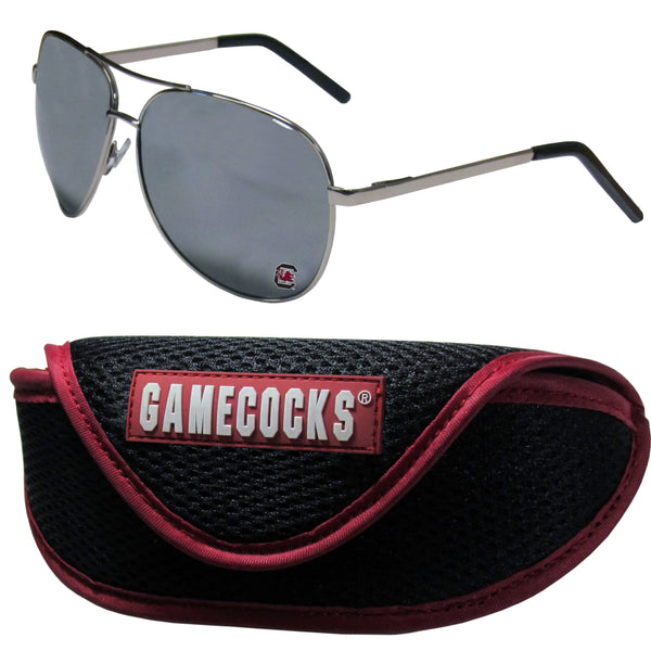S. Carolina Gamecocks Aviator Sunglasses and Sports Case