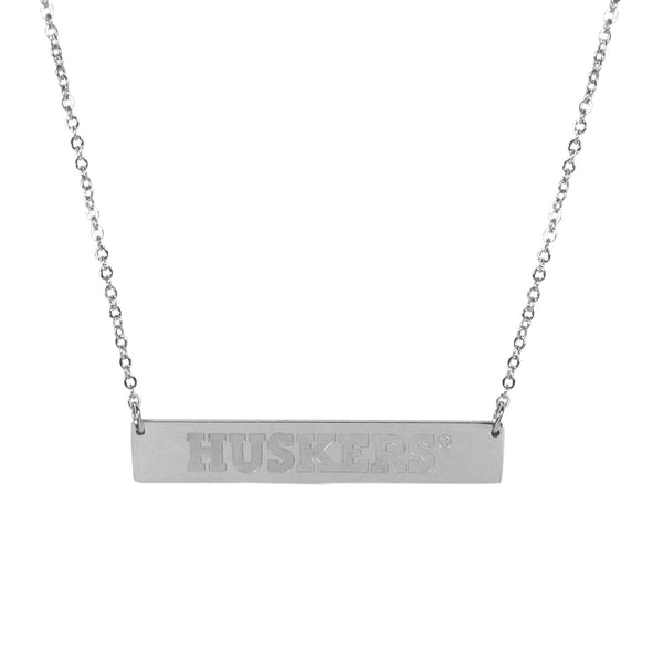 Nebraska Cornhuskers Bar Necklace
