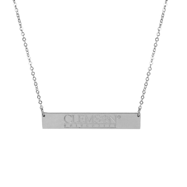 Clemson Tigers Bar Necklace
