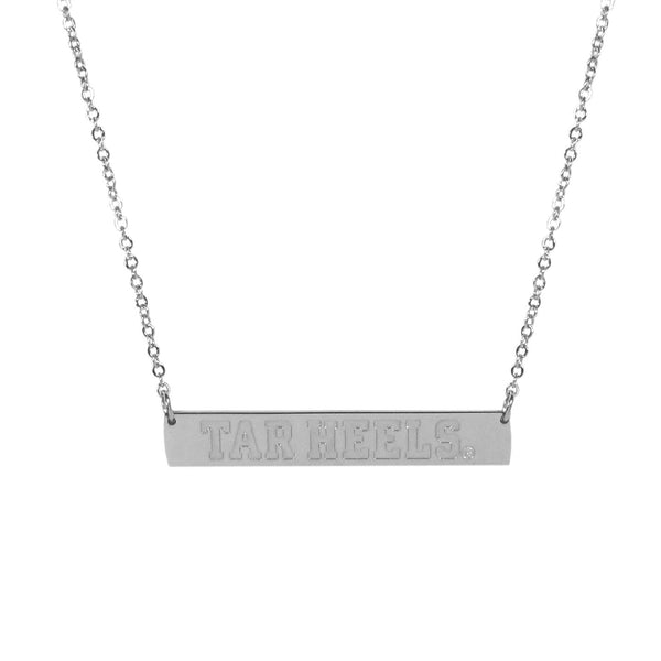 N. Carolina Tar Heels Bar Necklace