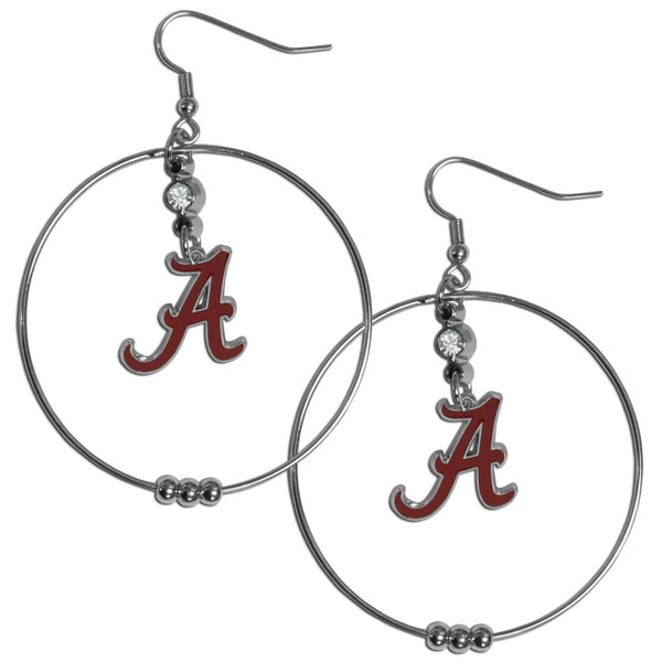 Alabama Crimson Tide 2 Inch Hoop Earrings