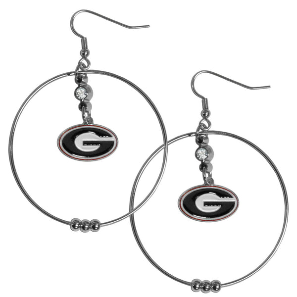 Georgia Bulldogs 2 Inch Hoop Earrings