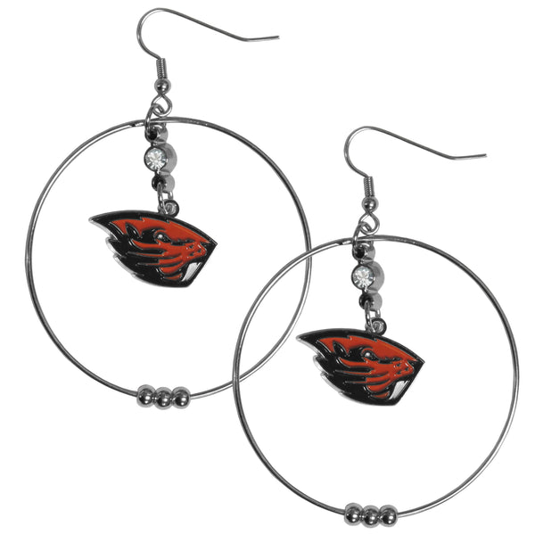 Oregon St. Beavers 2 Inch Hoop Earrings
