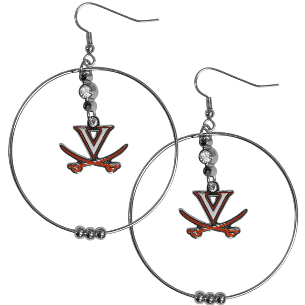 Virginia Cavaliers 2 Inch Hoop Earrings