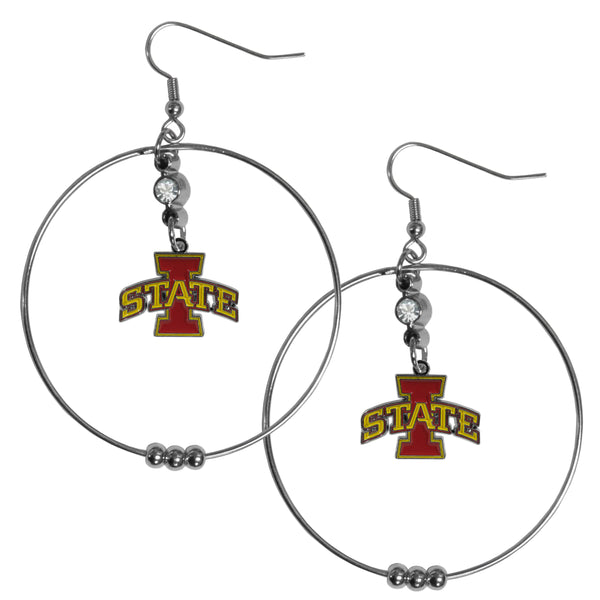 Iowa St. Cyclones 2 Inch Hoop Earrings