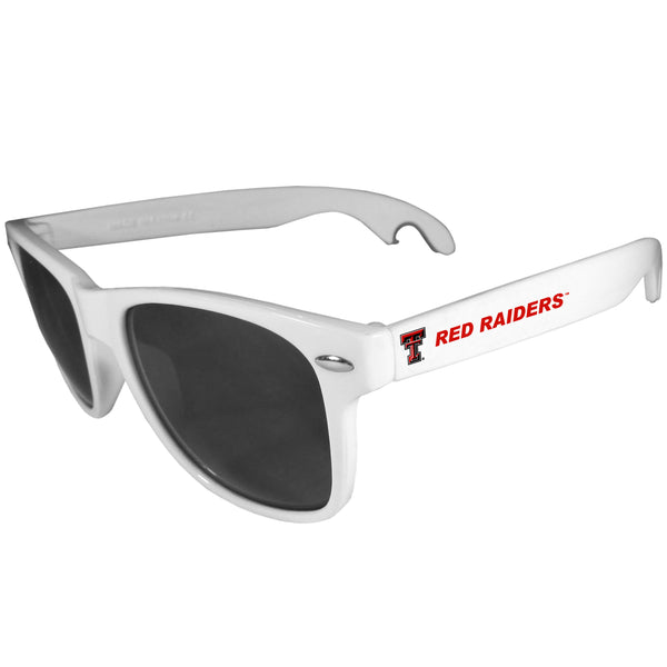 Texas Tech Raiders Beachfarer Bottle Opener Sunglasses, White