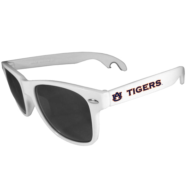 Auburn Tigers Beachfarer Bottle Opener Sunglasses, White