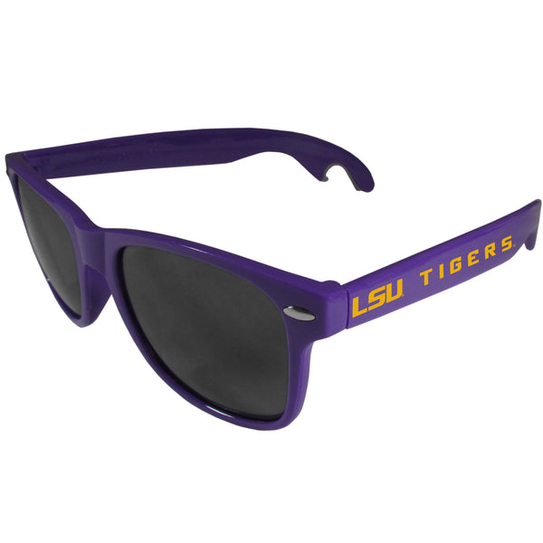 LSU Tigers Beachfarer Bottle Opener Sunglasses, Purple