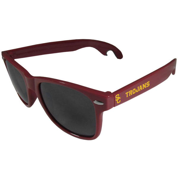 USC Trojans Beachfarer Bottle Opener Sunglasses, Maroon