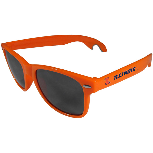 Illinois Fighting Illini Beachfarer Bottle Opener Sunglasses, Orange