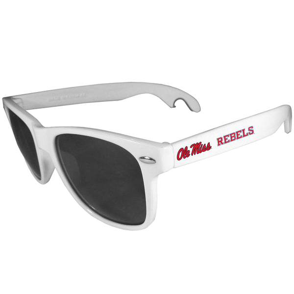 Mississippi Rebels Beachfarer Bottle Opener Sunglasses, White